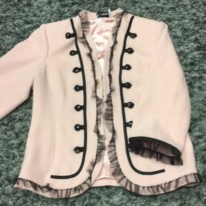 Pink and Black Military Style Blazer